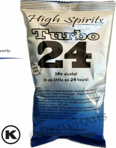 2 EA TRUBO YEAST 24 HR moonshine whisky vodka FAST SHIP 14% ABV HOT WEATHER 100%