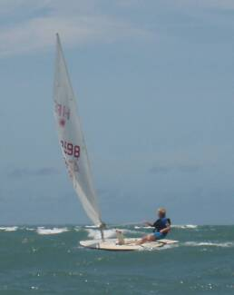 LASER sailboat on registered trailer with launching cradle