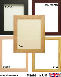 PICTURE FRAME POSTER PHOTO FRAMES WOODEN EFFECT VARIOUS ...