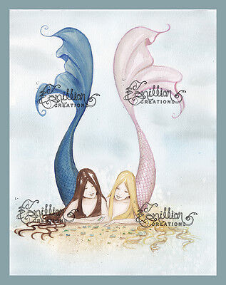 Acquista a buon mercato Finding Sea Glass Mermaid Print from Original Painting By Camille Grimshaw Fairy
