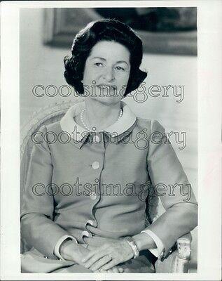 1968 First Lady Bird Johnson Wife of President Lyndon Press Photo