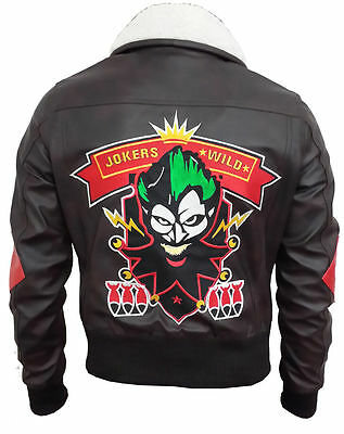 New Women Harley Quinn Suicide Squad Bombshell Faux Leather Jacket