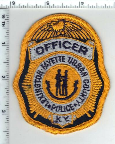 Lexington-Fayette Urban County Police (Kentucky) 1st Issue Cap/Hat Patch