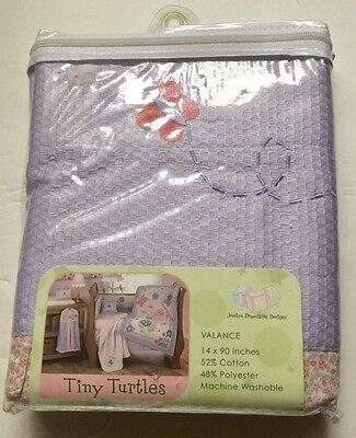 NEW Jessica Breedlove Designs Tiny Turtles Nursery Valance 14x90 Lavender