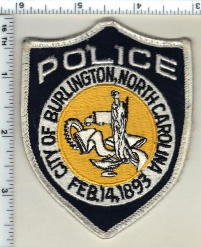 City of Burlington Police (North Carolina) 1st Issue Uniform Take-Off Patch