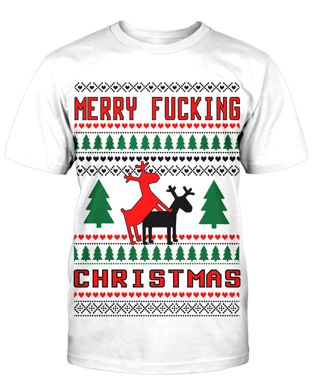 Merry Fucking Christmas T-Shirt Fun Trash Ugly Funshirt Sprüche Weihnachten XMas