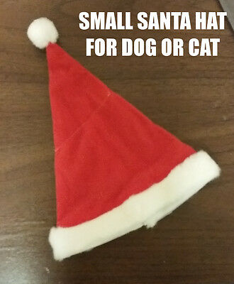 Tiny Dog Costumes (3 Dog or Cat Christmas Holiday Santa Claus Hat Mini Small Tiny for Chihuahua)
