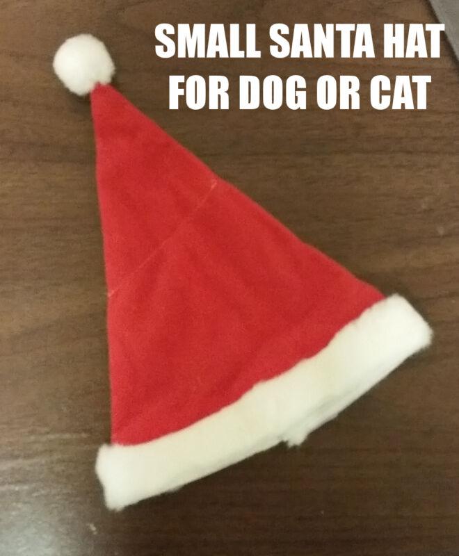2 Dog or Cat Christmas Holiday Santa Claus Hat Mini Small Tiny for Chihuahua NEW