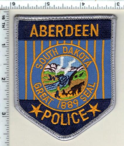 Aberdeen Police (South Dakota) Uniform Take-Off Shoulder Patch from 1989