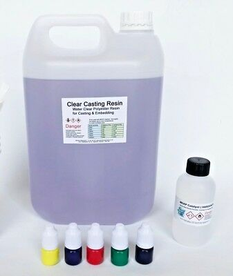 Casting Resin Water Clear Kit - Translucent Pigments -BASIC - NEXT DAY COURIER