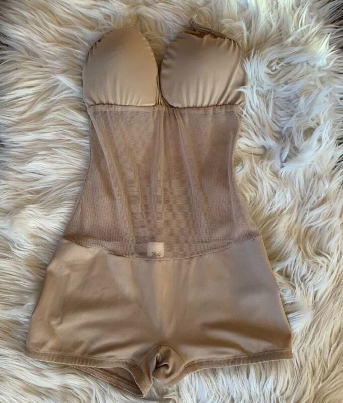 Body Wrappers Camisole Convertible Body Brief Nude S Dance Boy short Mesh Middle