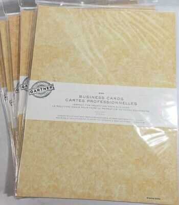 New 1500 Gartner Perforated Business Cards 2 X 3 12 Ivory Print Your Own
