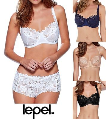 Navy or Nude Black Lepel Fiore Underwired Full Cup Bra 93229 White