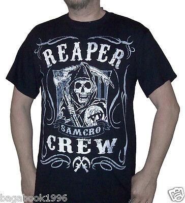 Soa Mens Sons Of Anarchy Reaper Crew T Shirt   New    Soa80a