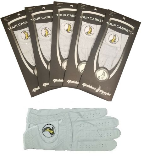 Golf Glove 5 Pack Genuine 100% Cabretta Leather Golden Eagle Free Fast Shipping