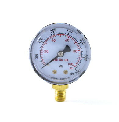 Low Pressure Gauge For Oxygen Regulator 0-100 Psi 2 Inches - 18 Npt Thread