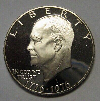 Beautiful 1976-S Type 2 Proof Clad Eisenhower Ike Dollar Flashy Gem   DUTCH 1976 Eisenhower Dollar Type