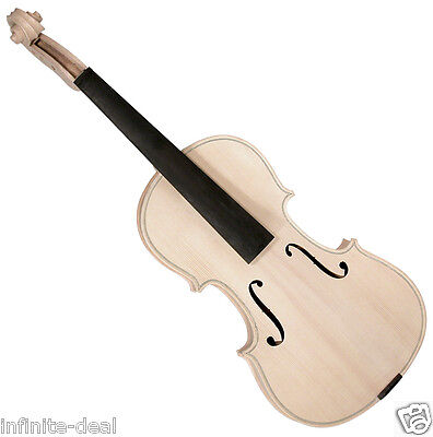 New SAGA VW-1 VIOLIN IN THE WHITE Unfinished Raw Good Quality Violin Luthier Kit