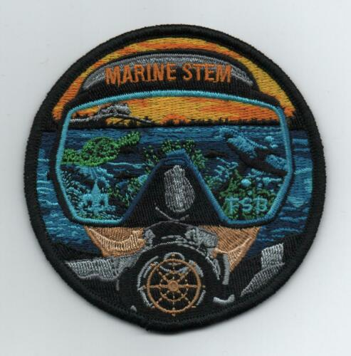 Florida High Adventure Sea Base Marine STEM Patch, Scuba Face, Mint!