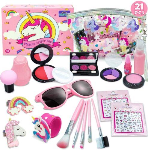 Pretend Makeup Set Kids Unicorn Kit Pink Gift P