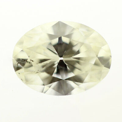 GIA Graded 0.56 Carat Loose Oval Diamond L SI2 Natural Untreated 1/2 ct  ()