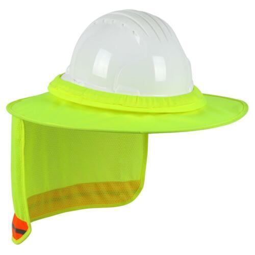 EZ-Cool Full Brim Hard Hat Visor and Neck Shade (Hi-Vis Yellow)