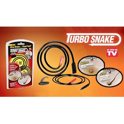Turbo Snake 2pc Chemical Free Drain Hair Clog Remover Free Shipping
