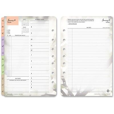 Franklin Covey Co. Planner Refill Daily 2ppd Jan-dec Blooms 5-12x8-12 35444