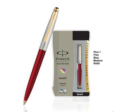 Ball Pen Red Refillable (Parker Galaxy Jotter Classic GT RED Body Ball Point Pen /)