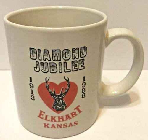 Vintage Diamond Jubilee Elkhart Kansas 1913 to 1988 Coffee Cup QIH