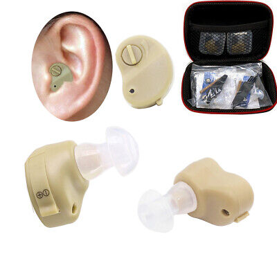 2X Small In The Ear Invisible Best Sound Amplifier Adjustable Tone Hearing (The Best Hearing Amplifiers)