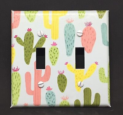 Cactus Light Switch Cover Plates Outlets Southwest Room Decor Desert Colorful ()