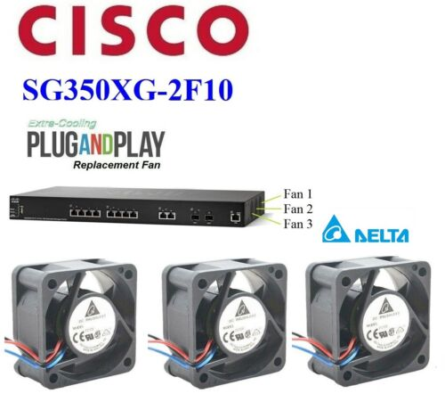 Set of 3x new Delta replacement fans for Cisco SG350XG-2F10