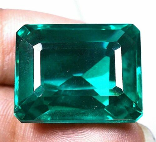VVS 60.15 CT Colombian Natural Green Emerald CERTIFIED Loose Gemstone GS0301