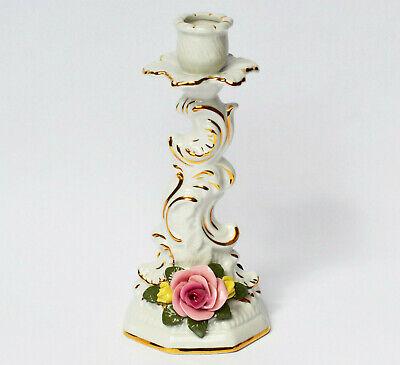 Arm-leuchter (Wiefel & Co. Porzellan Leuchter Kerzenleuchter Armleuchter Rocaillen Rosen 20 cm)