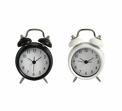 NEW DOUBLE BELL ALARM CLOCK BEDSIDE VINTAGE DESK LOUD TIME NUMBER GIFT CLASSIC