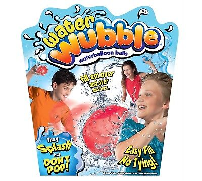 Water Wubble Waterballoon Balls - Refillable, Reusable, Easy-Fill As Seen On TV!