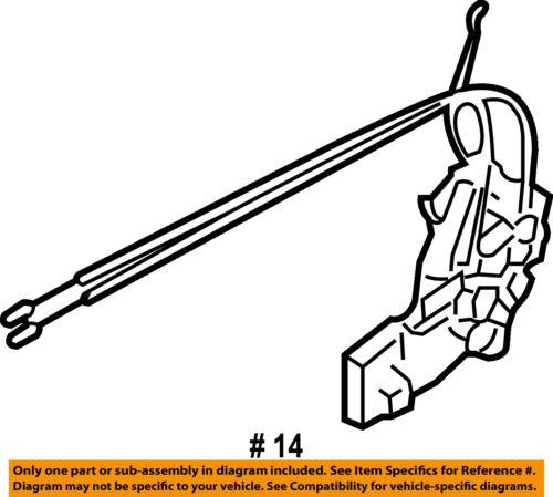 Mazda Oem 07 12 Cx 7 Front Door Lock Actuator Motor Eg2159310r