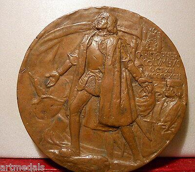 1892 1893 USA Rare Award Christopher Columbus Chicago World Columbian Expo Medal