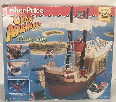 1st Release Fisher Price PIRATE SHIP 1994 Great Adventures New Sealed In Box