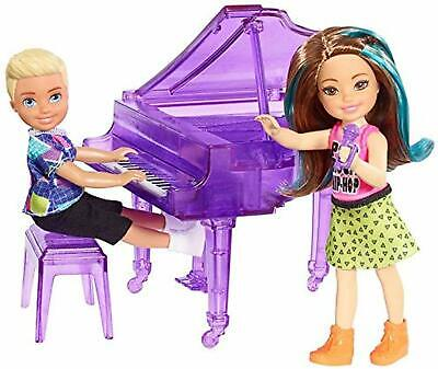 Barbie And The Rockers Concert Fun Chelsea Doll 2-Pack & Piano Playset NEW