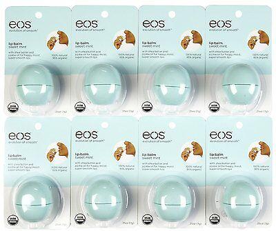 8 Pack Eos Smooth Sphere Evolution Lip Balm Sweet Mint Fl...
