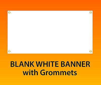 3x12 White Blank Vinyl Banner 13oz Hems 4 Sidegrommets Ready To Hang