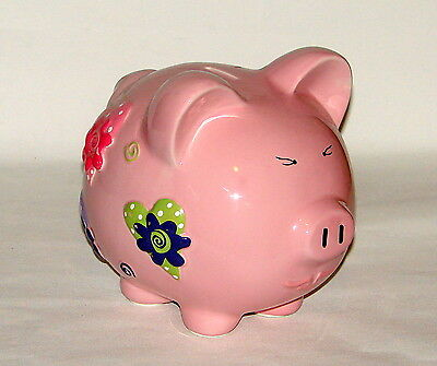 Vintage Large Ceramic Pink Piggy Bank Large - Large Ceramic Piggy Bank