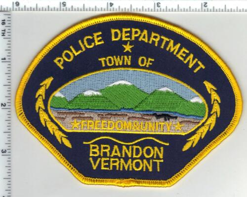Town of Brandon Police (Vermont) Shoulder Patch from the 1980