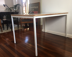 White Plywood/Metal Dining Table Woollahra Eastern Suburbs Preview