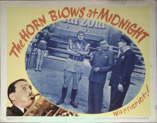 The Horn Blows at Midnight Lobby Card 1945 Jack Benny, Alexis Smith