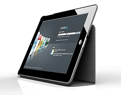 Genuine Leather Smart Cover Case Stand for Apple iPad 2, 3, 4  Black