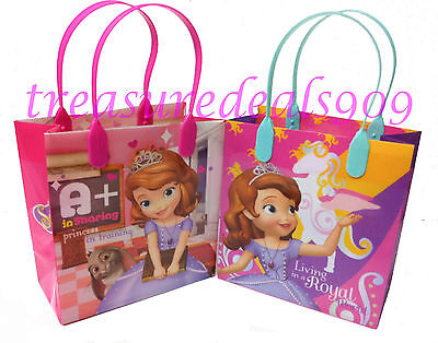 DISNEY SOFIA THE FIRST PARTY FAVOR BAGS 6  PCS GOODIE CANDY GIFT SOPHIA BIRTHDAY - Sophia First Birthday