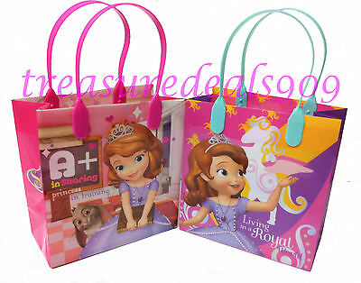 DISNEY SOFIA THE FIRST FAVOR BAGS 12 PCS PARTY GOODIE CANDY GIFT TREAT BIRTHDAY (Sofia The First Favor Bags)